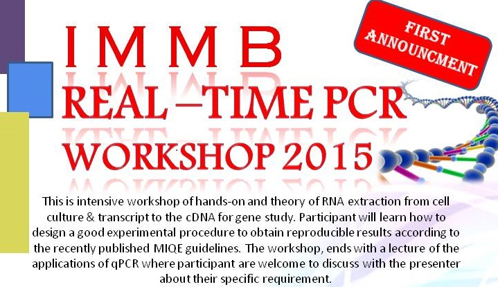 Real Time PCR (RT-PCR) workshop   Prima Nexus